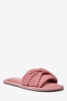 Knot Detail Slider Slippers