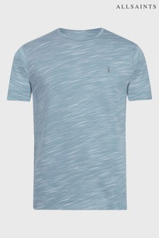 AllSaints Blue Mixed Stripe Owen T-Shirt