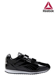 Reebok Black Patent Jogger Junior Trainers