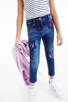 Sequin Embellished Jeans (3-15yrs)