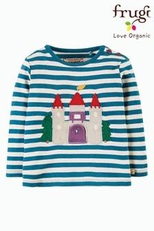 توب كم طويل مقلم Castle أزرق من Frugi GOTS Organic