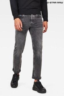 ג'ינס בגזרה ישרה של G-Star דגם 3301 בשחור