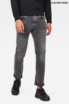 G-Star Black 3301 Straight Jeans