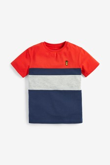 Colourblock Pique T-Shirt (3-16yrs)