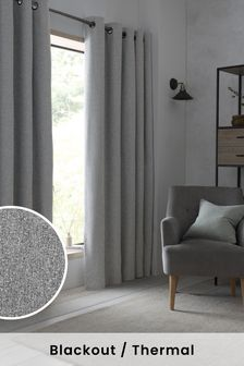 Soft Marl Eyelet Blackout/Thermal Curtains