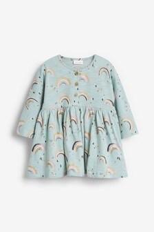 Разноцветное платье с длинными рукавами  (0 мес. - 2 лет)