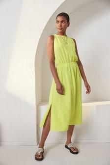 Платье миди с открытой спинкой