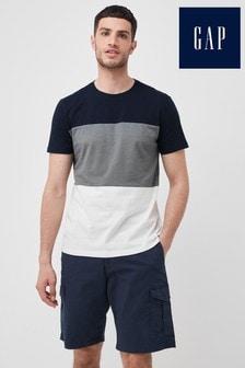 Gap Navy Tri Colourblock T-Shirt