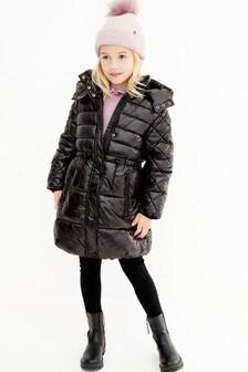 Длинное дутое пальто (3-16 лет)
