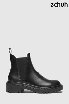 Черные ботинки челси на массивной подошвеSchuh Adam