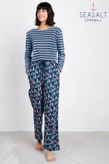 Seasalt Blue Night Sail Pyjama Bottoms