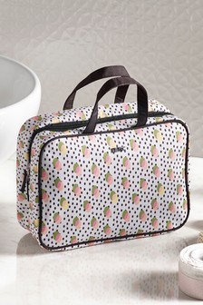 Retro Print Cosmetics Bag