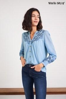 חולצת ג'רזי רקומה של White Stuff בכחול
