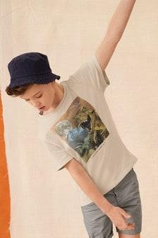 تي شيرت غرافيك Dinosaur (3-14 سنة)