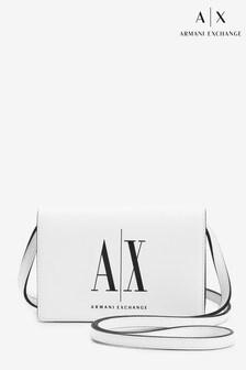 Biela crossbody taška s logom Armani Exchange