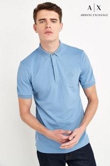 Jasnoniebieska koszulka polo Armani Exchange
