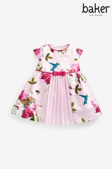 Baker by Ted Baker Baby Girls Pink Floral Occasion Dress