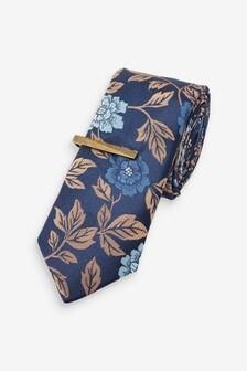 Жаккардовый галстук с зажимом