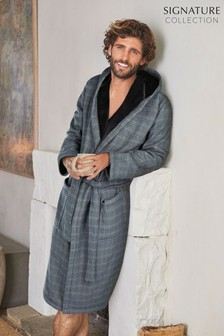 Check Signature Dressing Gown