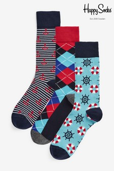 Happy Socks Anchor 3 Pack Socks
