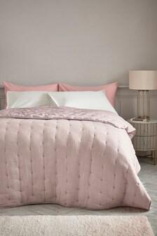 Пудрово-розовое фактурное покрывало