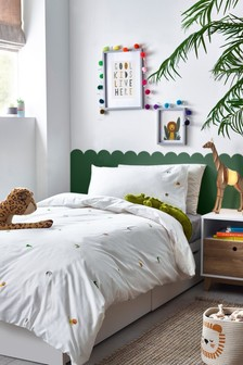 Safari Bett- und Kissenbezüge aus100 % Baumwolle mit Tierstickerei im Set