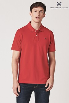 Crew Clothing Klassisches Piqué-Poloshirt, Rot