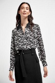 Рубашка с кружевной отделкой