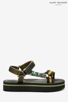 Zielone, płaskie sandały Kurt Geiger London Olivia