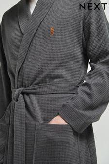 輕盈格紋睡袍