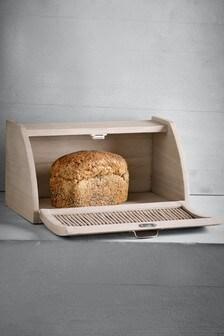 手工編紋柳條麵包箱