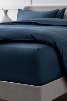 Navy Collection Luxe 400 Thread Count Extra Deep Fitted 100% Egyptian Cotton Sateen Deep Fitted Sheet
