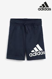 Adidas Navy Performance Badge Of Sport Shorts (879720)   $24