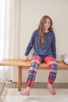 Woven Cuffed Bottom Pyjamas (3-16yrs)