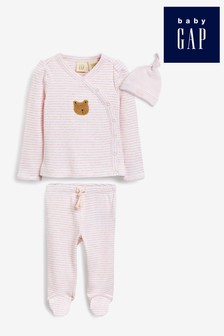 Gap Dreiteiliges Baby-Set mit Teddy-Grafik