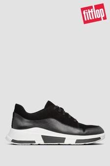 Czarne zamszowe buty sportowe FitFlop™ Freya