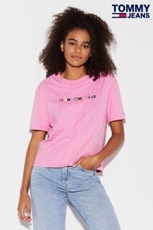 Tommy Jeans T-Shirt mit linearem Logo