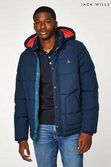 Темно-синяя плотная дутая куртка Jack Wills Cheadle