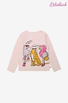Billieblush Pink Cat Print T-Shirt
