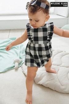 Myleene Klass Baby Gingham Ruffle Romper