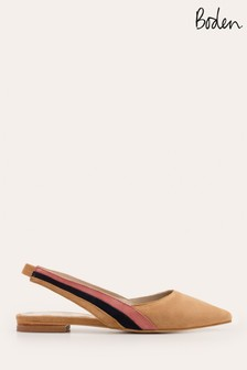 Boden Brown Louisa Flat Slingbacks