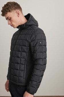 Водоотталкивюащая стеганая куртка с капюшоном