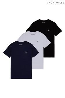 Jack Wills Boys Blue T-Shirts 3 Pack