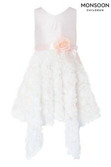 Monsoon Orabelle Pink 3D Hanky Hem Dress