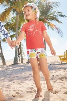 Пляжный комплект из солнцезащитной ткани (2 изд.) (3 мес.-7 лет)