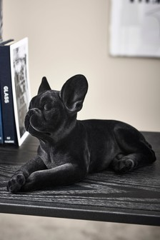 Sculpture bulldog français floqué