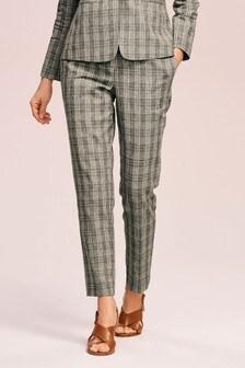 Суженные брюки из льняной смеси с высокой талией