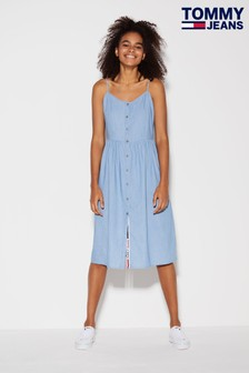Tommy Jeans Chambray Strappy Dress