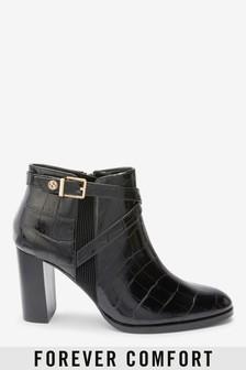 Forever Comfort® Hardware Ankle Boots