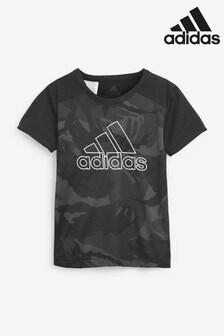 חולצת טי עם הדפס של adidas דגם Performance D2M
